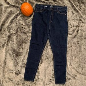 Loft High Rise Skinny Ankle Jeans (size 10)